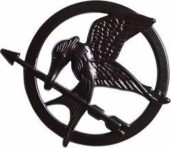 Hunger Games Mockingjay black pin