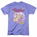 Cow & Chicken t-shirt Best Friends mens lavendar