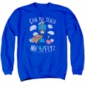 I Love Lucy adult crewneck sweatshirt Fly royal blue