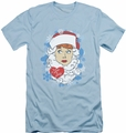 I Love Lucy slim-fit t-shirt Beard Flakes mens light blue