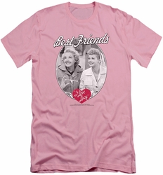 I Love Lucy slim-fit t-shirt Best Friends mens pink