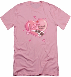 I Love Lucy slim-fit t-shirt Chocolate Smudges mens pink