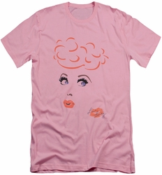 I Love Lucy slim-fit t-shirt Eyelashes mens pink