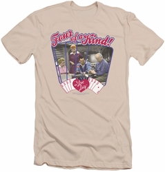 I Love Lucy slim-fit t-shirt Four Of A Kind mens cream