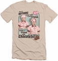 I Love Lucy slim-fit t-shirt Friends and Chocolate mens cream