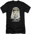I Love Lucy slim-fit t-shirt Glowing mens black