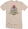 I Love Lucy slim-fit t-shirt Great Shot mens cream