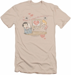 I Love Lucy slim-fit t-shirt Home Is Where The Heart Is mens cream