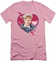 I Love Lucy slim-fit t-shirt I'm Lucy mens pink