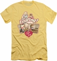 I Love Lucy slim-fit t-shirt Just Loafing mens pink