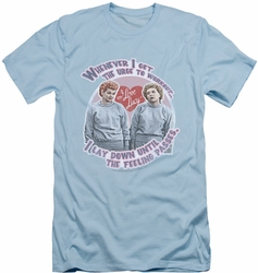 I Love Lucy slim-fit t-shirt Lucy's Workout mens light blue