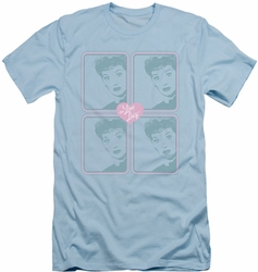 I Love Lucy slim-fit t-shirt Lucy Squared mens light blue