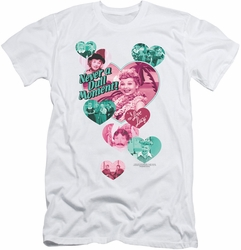 I Love Lucy slim-fit t-shirt Never A Dull Moment mens white