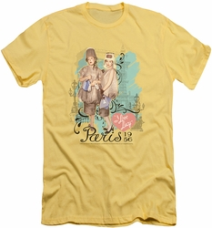 I Love Lucy slim-fit t-shirt Paris Dress mens banana