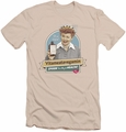 I Love Lucy slim-fit t-shirt Spoon To Health mens cream