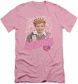 I Love Lucy slim-fit t-shirt Tastes Like Candy mens pink