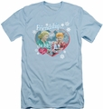 I Love Lucy slim-fit t-shirt The Best Present mens light blue