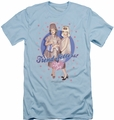 I Love Lucy slim-fit t-shirt Trend Setters mens light blue