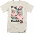I Love Lucy t-shirt Friends & Chocolate mens cream