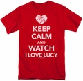 I Love Lucy t-shirt Keep Calm And Watch mens red