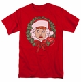 I Love Lucy t-shirt Wreath mens red