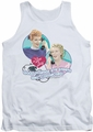 I Love Lucy tank top Always Connected mens white