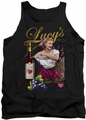 I Love Lucy tank top Bitter Grapes mens black