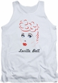 I Love Lucy tank top Drawing mens white