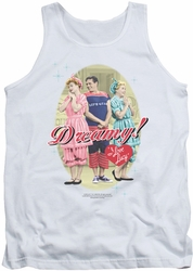 I Love Lucy tank top Dreamy! mens white