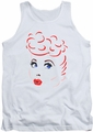I Love Lucy tank top Lines Face mens white