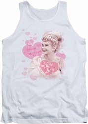 I Love Lucy tank top Show Stopper mens white
