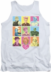 I Love Lucy tank top So Many Faces mens white