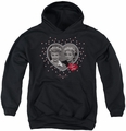 I Love Lucy youth teen hoodie Hearts And Dots black