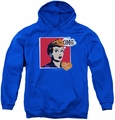 I Love Lucy youth teen hoodie I Love Worhol Omg royal blue