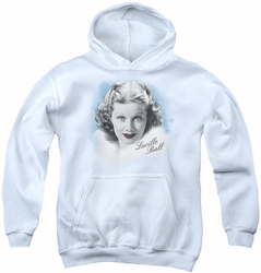 I Love Lucy youth teen hoodie In Blue white