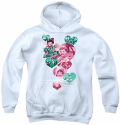I Love Lucy youth teen hoodie Never A Dull Moment white