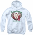 I Love Lucy youth teen hoodie Seasons Greetings white