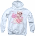 I Love Lucy youth teen hoodie Show Stopper white