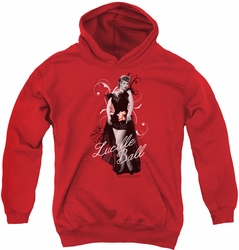 I Love Lucy youth teen hoodie Signature Look red