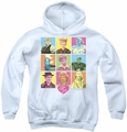 I Love Lucy youth teen hoodie So Many Faces white