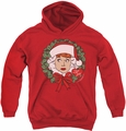 I Love Lucy youth teen hoodie Wreath red
