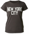 Impact Originals New York City juniors distressed boyfriend tee vintage black womens pre-order