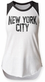 Impact Originals New York City juniors sleeveless raglan white/black womens pre-order