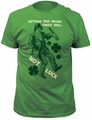 Impact Originals skill not luck fitted jersey tee kelly green t-shirt pre-order