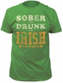 Impact Originals sober drunk irish fitted jersey tee kelly green t-shirt pre-order