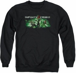 Infinite Crisis adult crewneck sweatshirt Green black