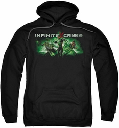 Infinite Crisis pull-over hoodie Ic Green adult black
