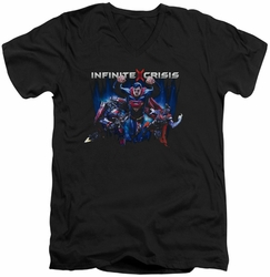 Infinite Crisis Super mens black v-neck t-shirt