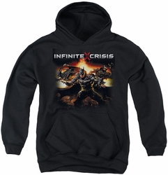 Infinite Crisis youth teen hoodie Batmen black