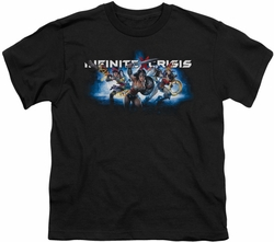Infinite Crisis youth teen t-shirt Blue black